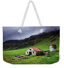 Deserted Barn In Iceland Weekender Tote Bag