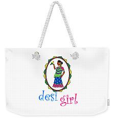 Desi Girl Weekender Tote Bag