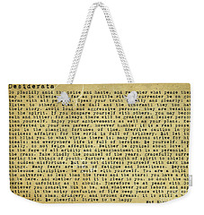 Desiderata By Max Ehrmann Weekender Tote Bag