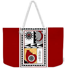 Southwest Collection - Design Five In Red Weekender Tote Bag