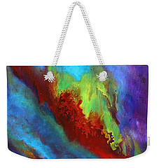 Desire A Vibrant Colorful Abstract Painting With A Glittering Center  Weekender Tote Bag