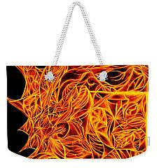 Weekender Tote Bag featuring the drawing Desire Flair by Jamie Lynn