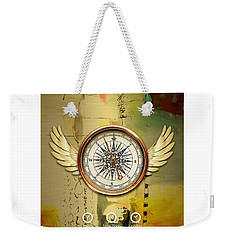 Weekender Tote Bag featuring the mixed media Destination by Marvin Blaine