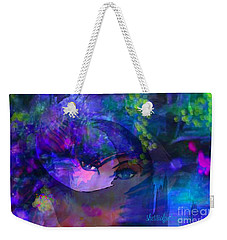Weekender Tote Bag featuring the digital art Destiny Do You Believe In Destiny by Sherri Of Palm Springs
