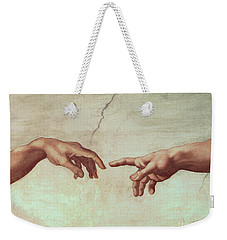 Detail From The Creation Of Adam Weekender Tote Bag