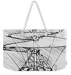 Detail Of A Design For A Flying Machine Weekender Tote Bag