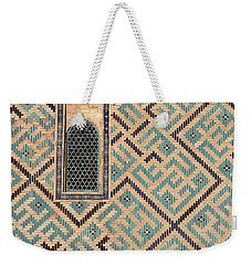 Detail Of Window And Geometric Patterns On Khoja Ahmed Yasawi Ma Weekender Tote Bag by Reimar Gaertner