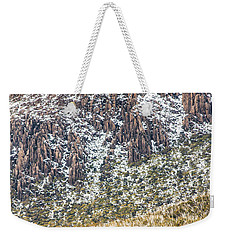 Detail On A Australian Snow Covered Mountain Weekender Tote Bag