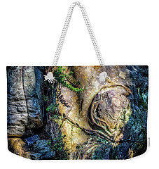 Weekender Tote Bag featuring the photograph Details In The Rock by James Barber