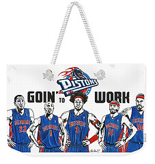 Detroit Goin' To Work Pistons Weekender Tote Bag