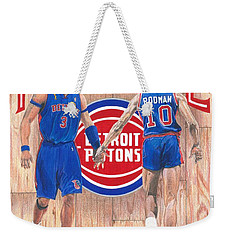 Detroit Hustle - Ben Wallace And Dennis Rodman Weekender Tote Bag