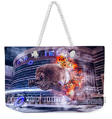 Weekender Tote Bag featuring the photograph Detroit Lions At Ford Field 2 by Nicholas Grunas