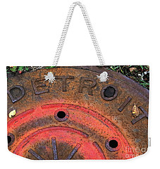 Detroit Manhole Cover Spray Painter Red Weekender Tote Bag