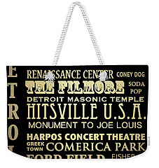 Detroit Michigan Famous Landmarks Weekender Tote Bag