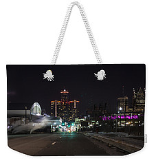Weekender Tote Bag featuring the photograph Detroit Michigan by Nicholas Grunas