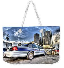 Detroit Police Weekender Tote Bag by Nicholas  Grunas