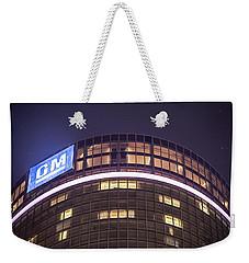 Weekender Tote Bag featuring the photograph Detroit Renaissance Center by Nicholas  Grunas