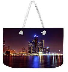 Detroit Skyline 4 Weekender Tote Bag by Gordon Dean II