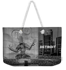 Detroit Type Feeling Weekender Tote Bag