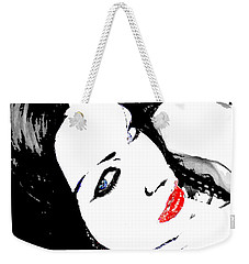 Weekender Tote Bag featuring the painting Deviant by Tbone Oliver