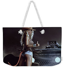 Devil In Blue Jeans Weekender Tote Bag by Shanina Conway