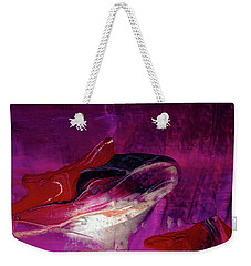 Devilfish Art - Purple Vibrant Underwater Abstract Painting Weekender Tote Bag
