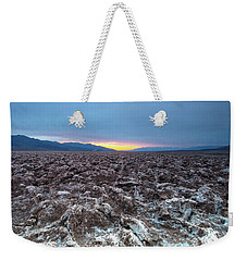 Weekender Tote Bag featuring the photograph Devil's Golf Course  by Catherine Lau