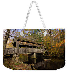 Devil's Hopyard Covered Bridge Weekender Tote Bag