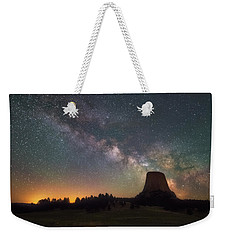 Weekender Tote Bag featuring the photograph Devils Night Watch by Darren White