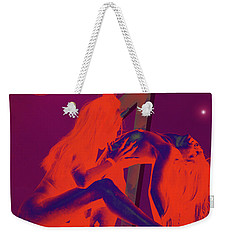 Weekender Tote Bag featuring the painting Devils Playground by Tbone Oliver