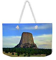 Weekender Tote Bag featuring the photograph Devils Tower 002 by George Bostian