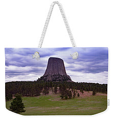 Weekender Tote Bag featuring the photograph Devil's Tower 2 by Gary Lengyel
