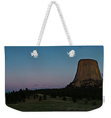 Weekender Tote Bag featuring the photograph Devil's Tower At Dusk by Gary Lengyel