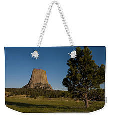 Weekender Tote Bag featuring the photograph Devil's Tower by Gary Lengyel
