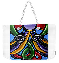Colorful Contemporary Canvas Painting, Eyeball Artwork, Colorful Modern Art                       Weekender Tote Bag