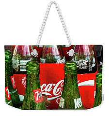Weekender Tote Bag featuring the photograph Dew 7-up N Coke by Trey Foerster