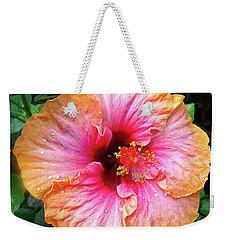 Dew-kissed Hibiscus Weekender Tote Bag