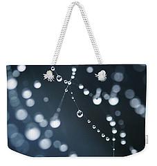 Dewdrops On Cobweb 003 Weekender Tote Bag