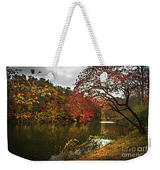 Dewey Lake In Autumn Weekender Tote Bag
