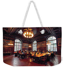 Weekender Tote Bag featuring the photograph Dewitt Wallace Periodical Room by Jessica Jenney
