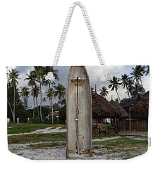 Dhow Wooden Boat As A Beach Shower Weekender Tote Bag