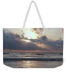 Dhow Wooden Boats At Sunrise 1 Weekender Tote Bag