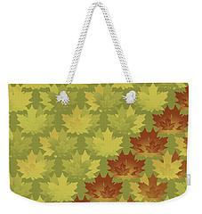 Diagonal Leaf Pattern Weekender Tote Bag by Methune Hively