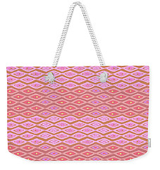 Diamond Bands Salmon Weekender Tote Bag