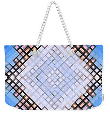 Weekender Tote Bag featuring the digital art Diamond Blues by Shawna Rowe