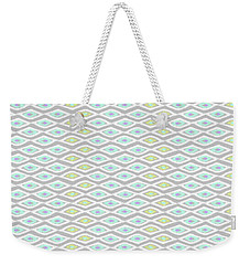 Diamond Eyes Array Faded Gray Weekender Tote Bag