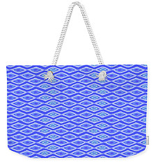 Diamond Eyes Cobalt Weekender Tote Bag