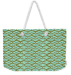 Diamond Eyes Olive Weekender Tote Bag