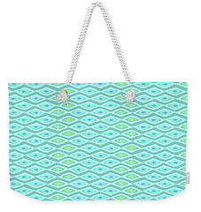 Diamond Eyes Pale Teal Weekender Tote Bag