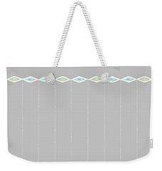 Diamond Eyes Row Gray Weekender Tote Bag